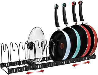 X-cosrack Porte-casseroles Support pour Organisateur de Plateaux de Cuisson, Extensible, En Instance de Brevet. Noir
