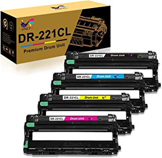 ONLYU Remanufactured Drum Unit Replacement for Brother DR-221CL DR221CL DR221 Drum Unit Set to Use with HL-3140CW HL-3170CDW MFC-9130CW MFC-9330CDW MFC-9340CDW (Black Cyan Magenta Yellow, 4-Pack)