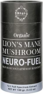 Sponsored Ad - Lion's Mane Mushroom 12:1 Dual Extract Powder - USDA Organic Full Spectrum Elixir - Boost Focus and Memory ...