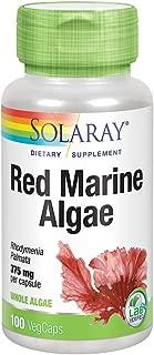 Solaray Red Marine Sea Algae 375mg | Sea Vegetable Supplement | Healthy Immune Function & Skin Support | Non-GMO | Vegan | Lab Verified | 100 VegCaps