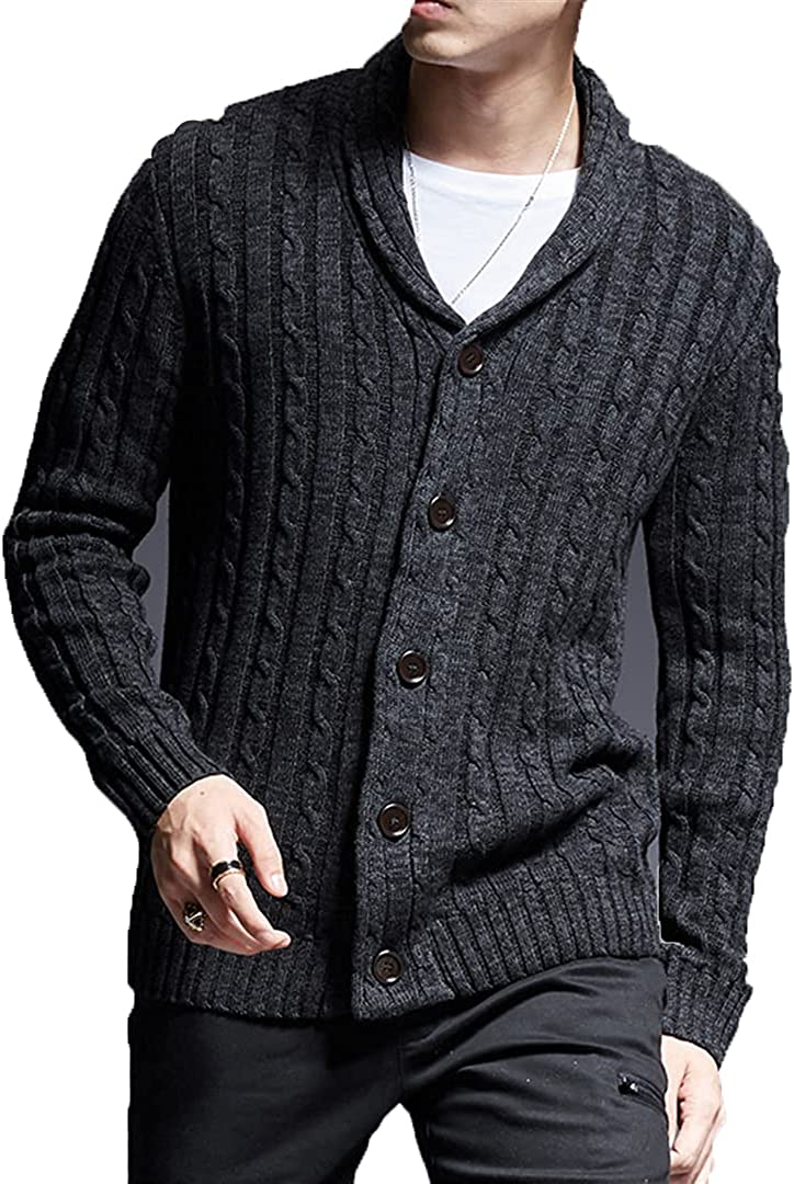 Sinubiser 2021 Man Cardigan Sweater Thick Slim Fit Jumpers Knitwear Korean Style Casual