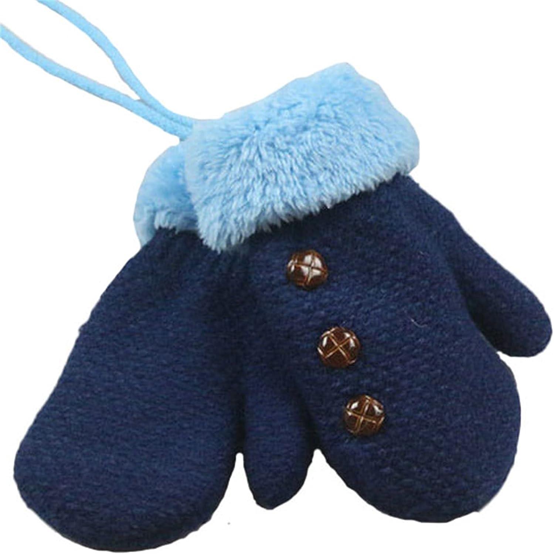 BESTORI Toddler Winter Mittens Warm Fluffy Gloves Cute Knitted Thicken Mittens Birthday Xmas Gifts for 1-4 Y Kids