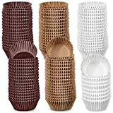 1000 Pieces Baking Cups Liners Paper Cake Cases Muffin Cupcake Liners Cupcake Wrappers Baking Paper Cups (Brown White Nature,1.18-inch)