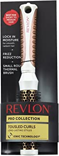 Revlon Pro Collection Long-Lasting Styles Tousled Curls Thermal Hair Brush, 1 inch Rose Gold