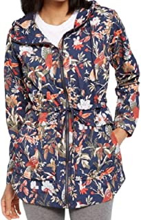 Columbia Women's West Bluff Printed Hooded Jacket Nocturnal Bird & Branches- Medium