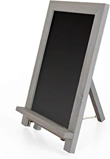 Ilyapa Rustic Wooden Magnetic Kitchen Chalkboard Sign - 12x16 Inch Graywash Framed Standing Tabletop Chalk Board for Farmhouse Decor, Wedding, Restaurant & Home