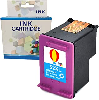A1INK Refilled Ink Cartridge Replacement for HP 62 62XL 62 XL Use for HP Envy 7640 5660 5540 5640 5643 5543 5541 Officejet 5740 5743 5745 8040 OfficeJet 200 250 252 258 Mobile Printer (1Tri-CL)