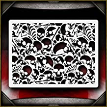 Skull Background 6 AirSick Airbrush Stencil Template