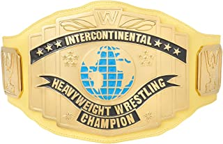 WWE Authentic Wear Yellow Intercontinental Championship Replica Title Belt