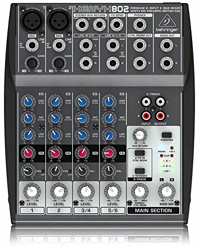 Behringer Xenyx 802 Premium 8-Input 2-Bus Mixer with Xenyx Mic Preamps and British EQs. Buy it now for 89.99