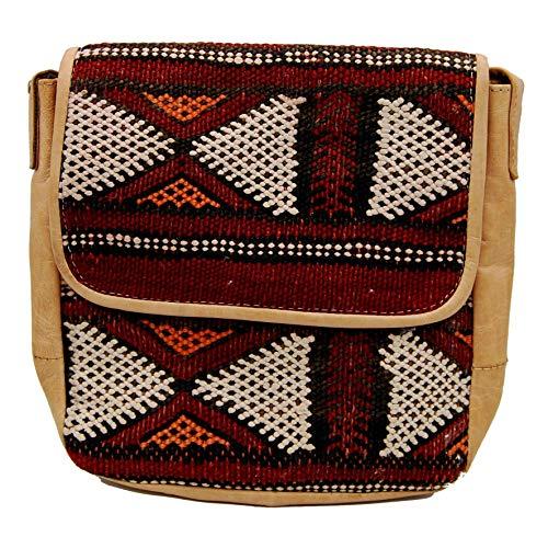 Etnico Arredo Bolso bandolera auténtica piel africana Marruecos cuero vintage 0705201109