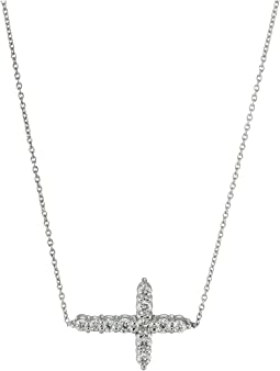 Roberto Coin - Tiny Treasures Cross Pendant Necklace with Diamonds