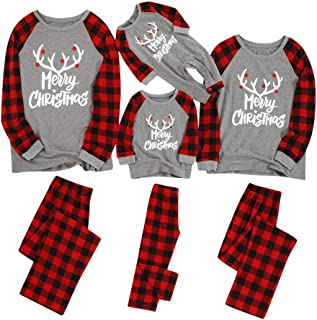 Matching Family Pajamas Sets Christmas PJ's with Letter...