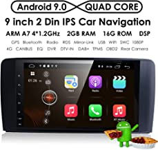 9 Inch 1024x600 Android 9.0 Car Radio GPS Navigation Stereo for Mercedes Benz ML GL W164 Auto GPS Navigation WiFi Bluetooth Touch Screen Mirror Link + Optional 4G OBD2 DVR TPMS