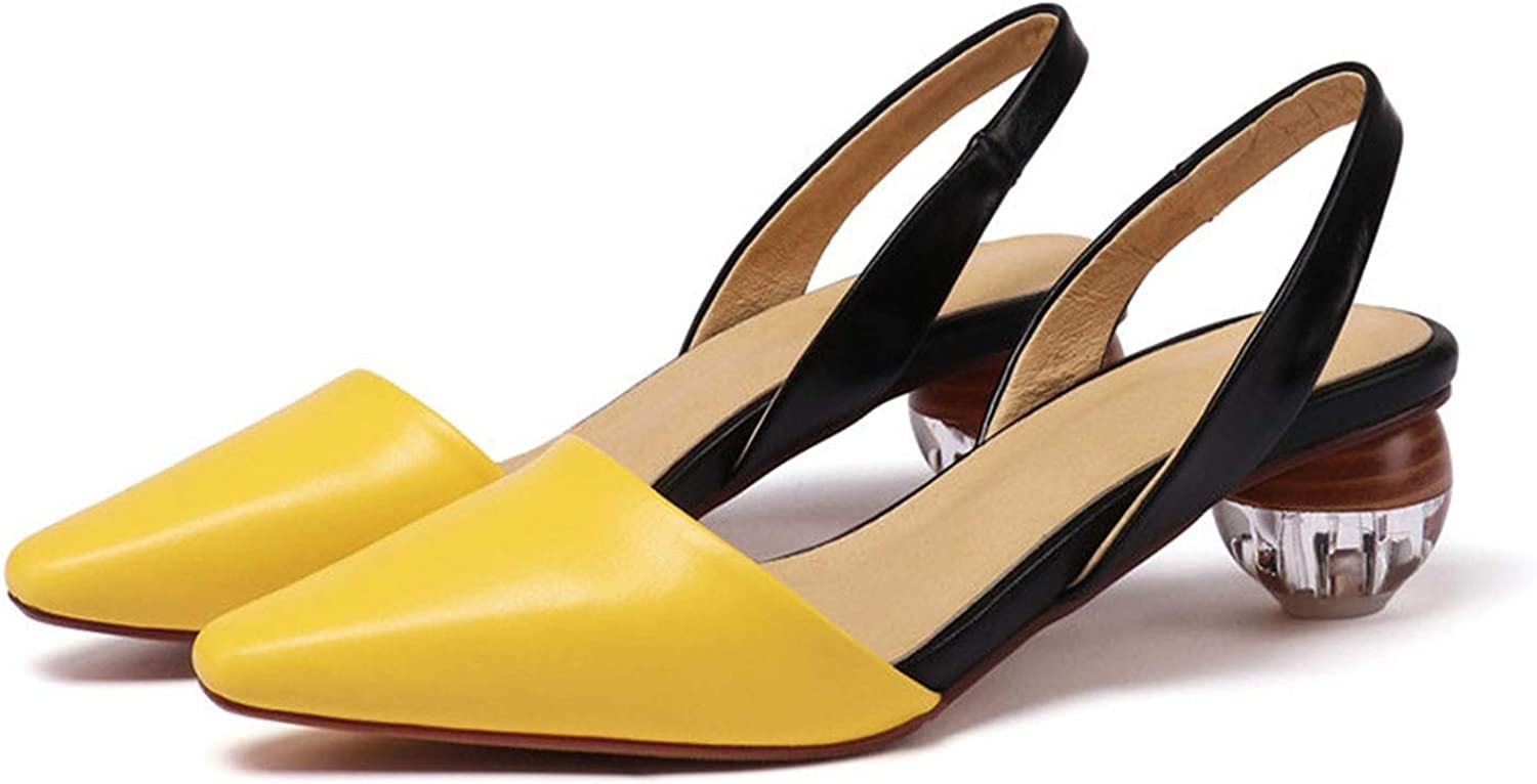 Barry-Story Genuine Leather shoes Woman Slip on Summer shoes Unique Party Wedding shoes Woman Sandals,Yellow,3