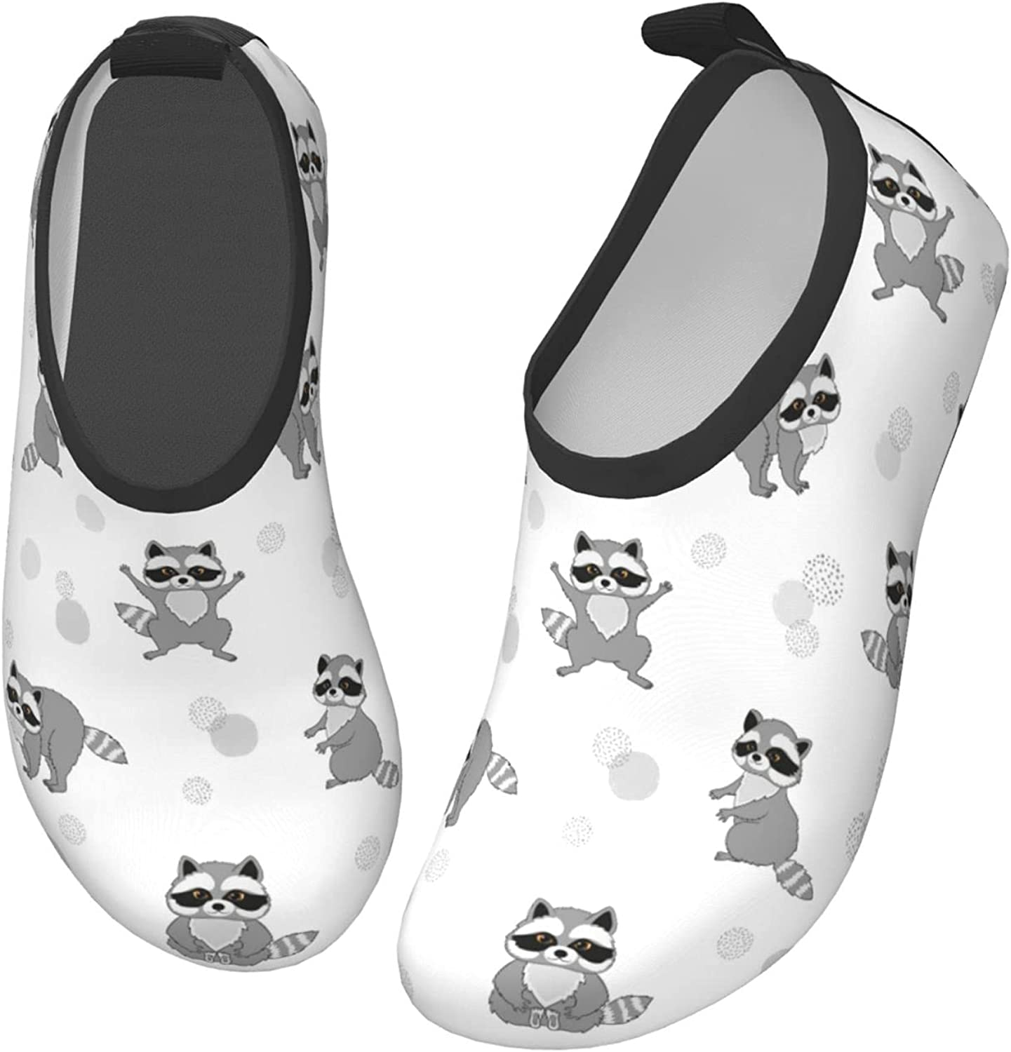 Fairy UMI Funny Raccoon Toddler Water Shoes Non-Slip Aqua Sports Shoes Barefoot Swim Shoes Beach Surf for Boys Girls