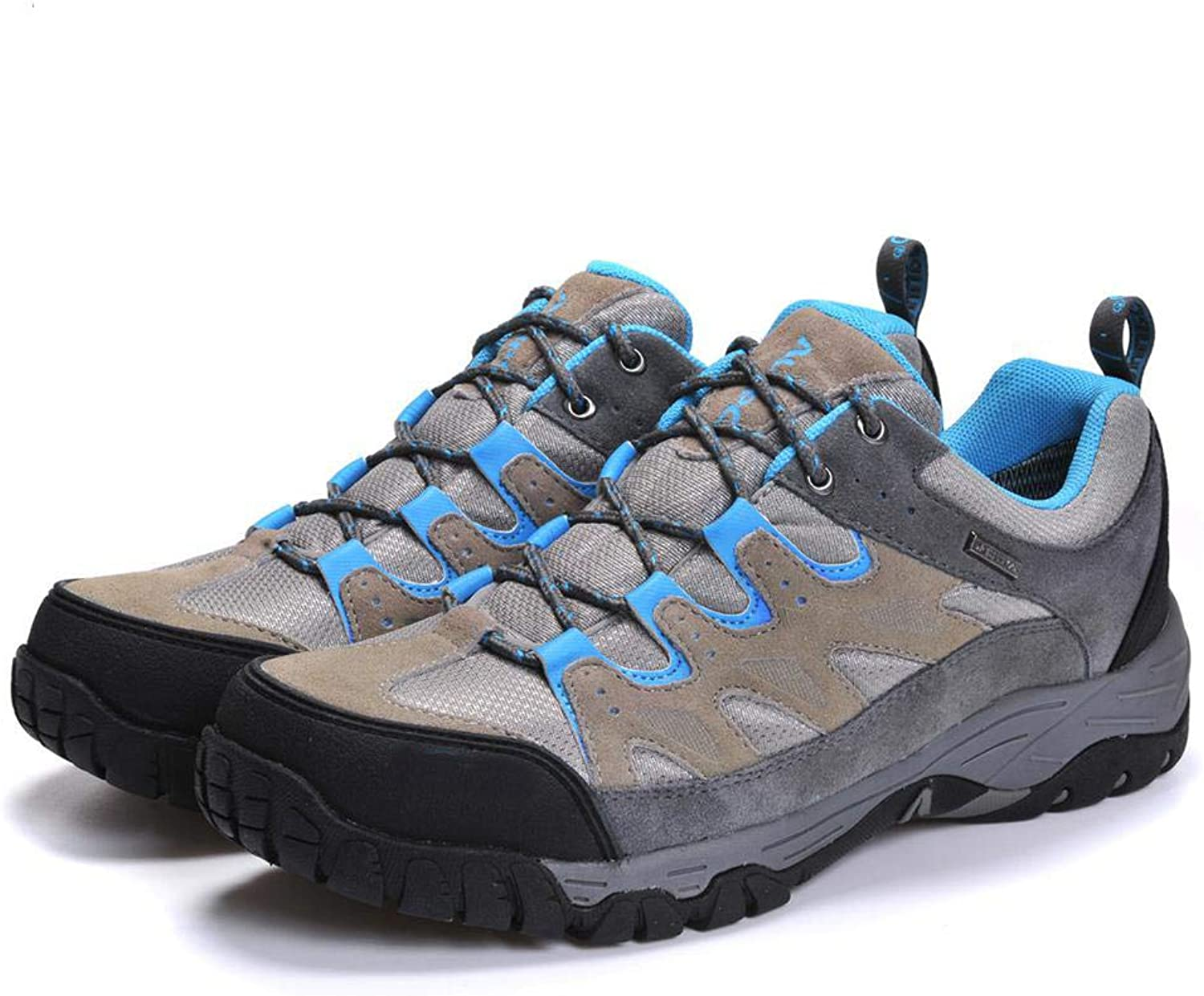 QIKAI Hiking shoes Men's Waterproof Outdoor shoes Low to Help Walking shoes Off-Road shoes wear-Resistant Slip,for Hiking Running Trail Climbing Outdoor