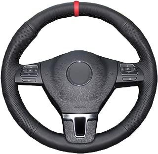 ZYTB F/ür schwarz rot handgen/äht Auto lenkradbezug f/ür Ford Mustang 2015-2020 Mustang gt gt350r 2015-2020