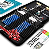 Drawing Pencils Art Supplies - 37pc Drawing Kit Art Set...
