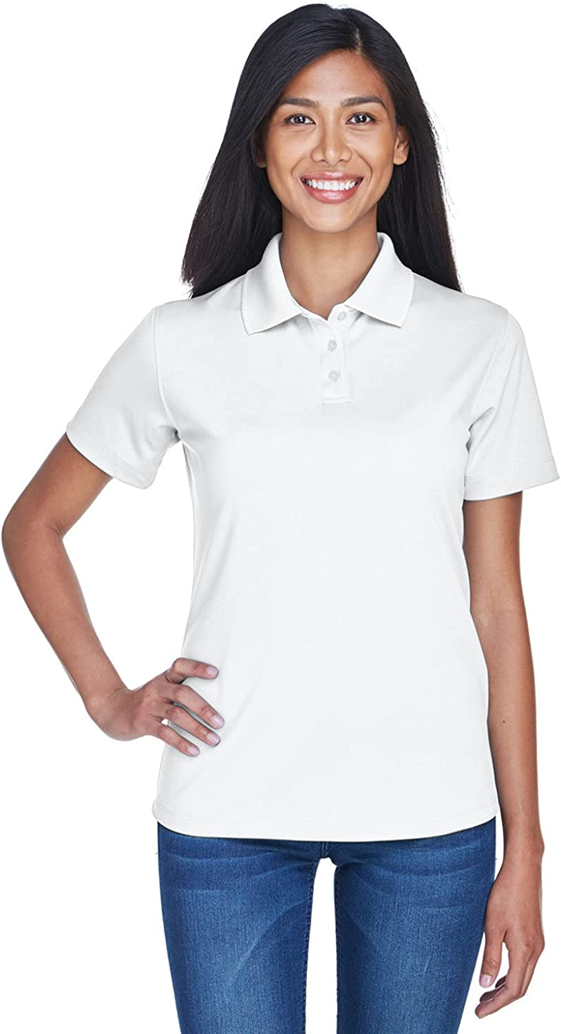 UltraClub Womens Cool & Dry Stain-Release Performance Polo (8445L) -WHITE -2XL