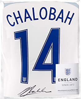 Icons.com Nathaniel Chalobah Official England Back Signed 2016-17 Home Shirt