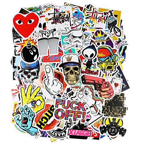 200 Stücks wasserdicht Aufkleber, ivencase Sticker Decals stilvoll für Auto Motorräder Fahrrad Skateboard Snowboard Laptop Gepäck - Super Cool Kunst Graffiti