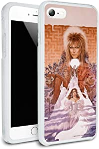 Labyrinth Movie Art Goblin King Jareth David Bowie Protective Slim Fit Hybrid Rubber Bumper Case for Apple iPhone 7 and 7 Plus