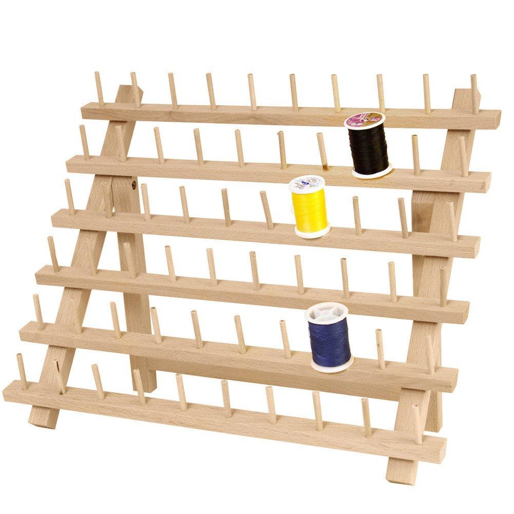 Flower205 - Soporte de 60 bobinas plegable, organizador de hilos, carrete de almacenamiento, estante de almacenamiento: Amazon.es: Hogar