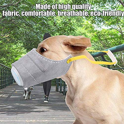 PJDDP Atemschutzmaske Für Hunde, Atemschutzmaske Für Hunde, Atemschutzmaske Für Hunde, Anti-Fog-Maske Für Hunde, 3-Teilig,S - 3