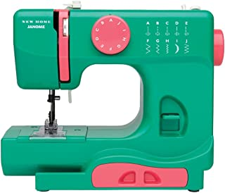 Janome Watermelon Crush Basic, Easy-to-Use, 10-Stitch Portable, Compact Sewing Machine with Free Arm only 5 pounds
