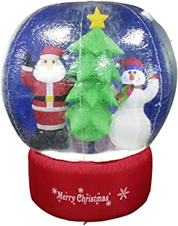 ALEKO CHID004 Inflatable LED Holiday Christmas Snow Globe with Merry Christmas Sign 5 Foot with UL Certified Blower Holiday Christmas Inflatable, Christmas Décor, LED Outdoor Christmas Decorations