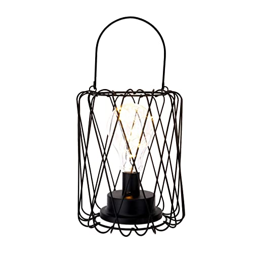 Amazing Outdoor Lighting Bronze Metal Caged Solar Lantern With Light Download Free Architecture Designs Boapuretrmadebymaigaardcom