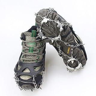 Stivali Neve Ghiaccio Ramponi Tacchetti Spikes LICHENGTAI Universal Non-Slip Gripper Spikes Ramponi da Ghiaccio Antiscivolo Ice Tacchetti Trazione Antiscivolo su Scarpe Ramponi da Arrampicata