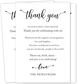50 Wedding Thank You Place Setting Cards, Wedding Table Centerpieces and Wedding Decorations, Wedding Table Decorations, W...