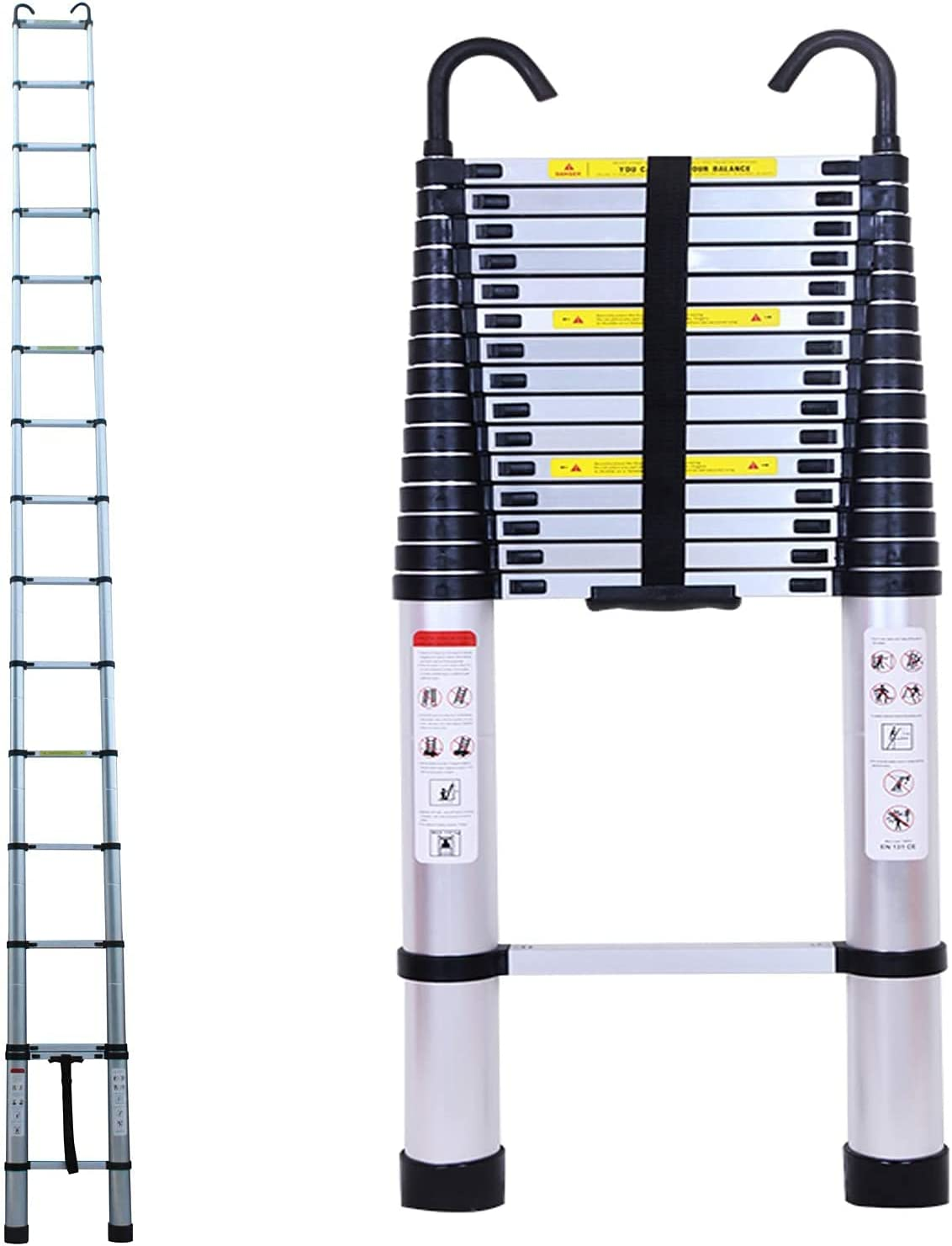 Telescoping Ladder Ranking TOP15 6.2M 20ft Aluminum Sale special price w Extension Folding
