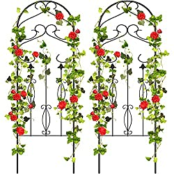 Amagabeli Enrejado De Jardín Para Plantas Trepadoras 119 X 41 Cm 47 X 16 Pulgadas Resistente Al óxido Acero De Color Negro Jardín Y Exteriores