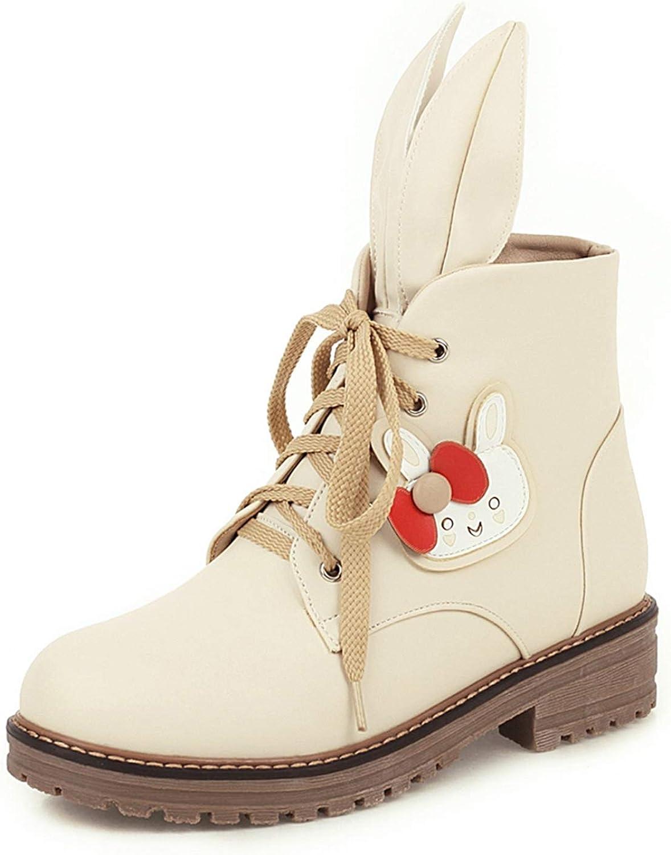 おすすめ特集 Women Fashion Low Heels Platform Bunny Decorat Ears Martin SEAL限定商品 Boots