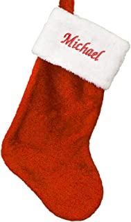 """Best GiftsForYouNow Embroidered Red Plush Personalized Christmas Stocking, 19"""" Long, Customized, Stocking for The Mantle Review"""