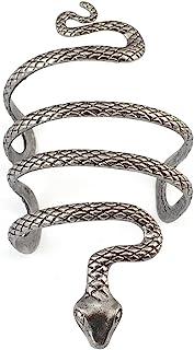 Brazalete idealway, vintage, plata, con forma de serpiente,