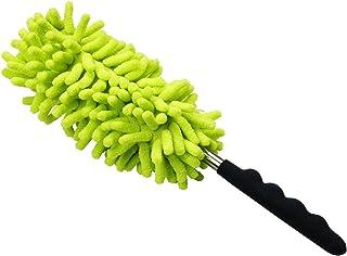 サンワダイレクト ハンディモップ 26.5cm~76.5cm 伸縮 マイクロファイバー 角度調整 グリーン 200-CD038G