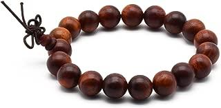 Zen Dear Unisex Natural Rosewood Prayer Beads Buddha Buddhist Prayer Meditation Mala Necklace Bracelet