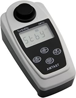 AMTAST Portable Turbidity Meter Kit Handheld Turbidity Tester with Carrying Case, Range: 0-19.99, 20.0-199.9, 200-1000NTU