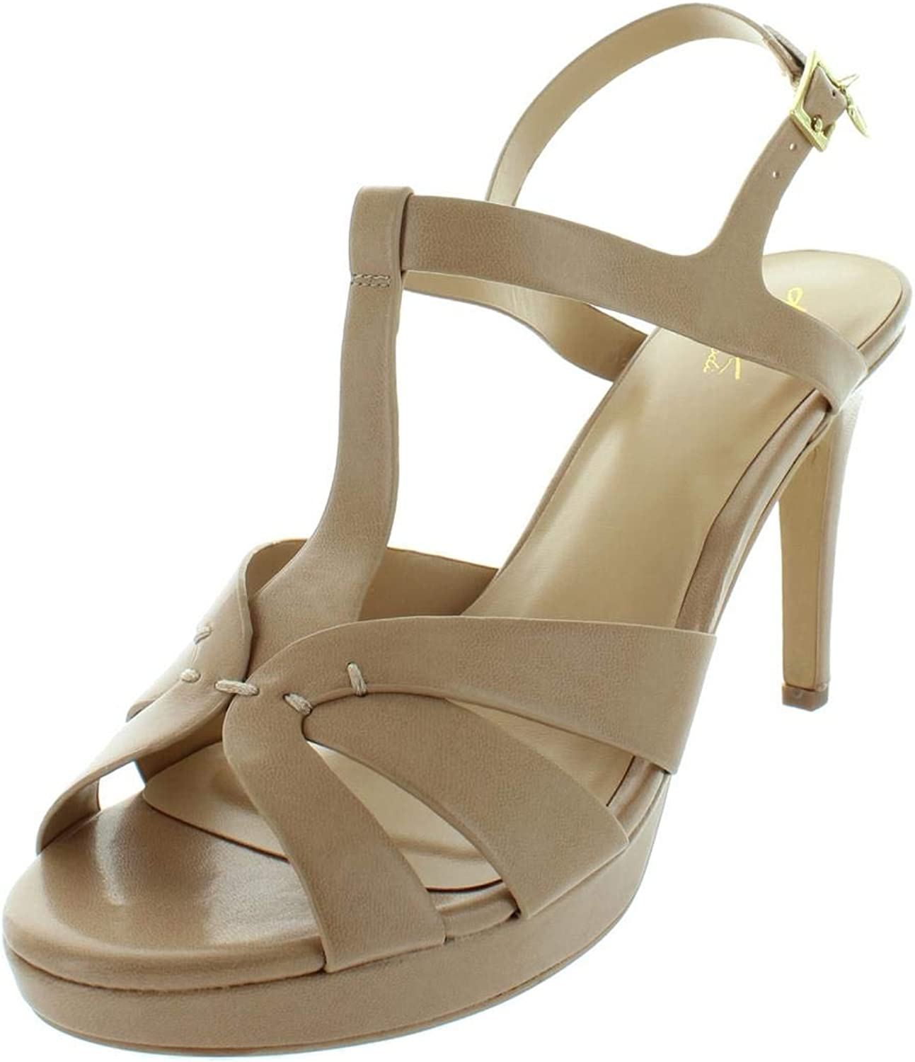 Thalia Sodi Womens Verrda Faux Leather Heels Platform Sandals
