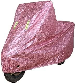 LALEO Funda para Moto, 190T Fibra de Poliester Impermeable Prueba de UV Todos los Climas Universal Funda Protector para Moto Scooter, S-2XL 1.6-2.5 Metros, Rosa, Azul, Gris