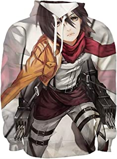 Attack on Titan Hooded Sweater Hoodie Mikasa Captain Allen 3D Full Color Warm Long Sleeve Sweater