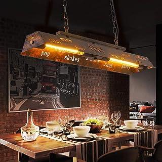 Suspension 40W Salle À Manger Pendante Lumière Lampe Vintage E27 Rétro Loft Plafonnier Lustre Industriel En Métal Hauteur ...
