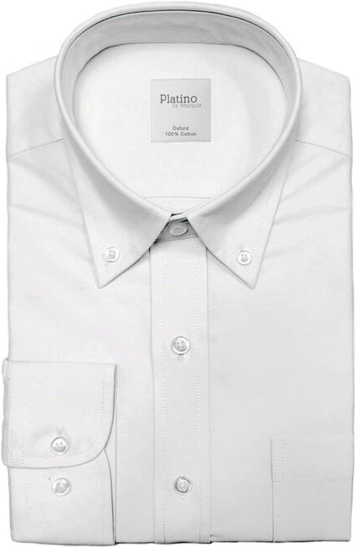 Men's Regular Fit Oxford Button-Down Dress Shirt Neck 14.5 to 20.5
