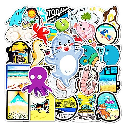 DSSK 50 Uds Pegatinas de Graffiti de Criatura Marina de Dibujos Animados para niños DIY Pegatinas de decoración para Scooter de Equipaje para portátil