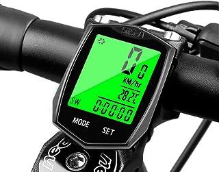 comprar comparacion Cyfie Velocimetro Bicicleta Inalambrico Impermeable Ciclocomputador Bicicleta Cuenta Kilómetros Lleva Termómetro, Reloj y ...