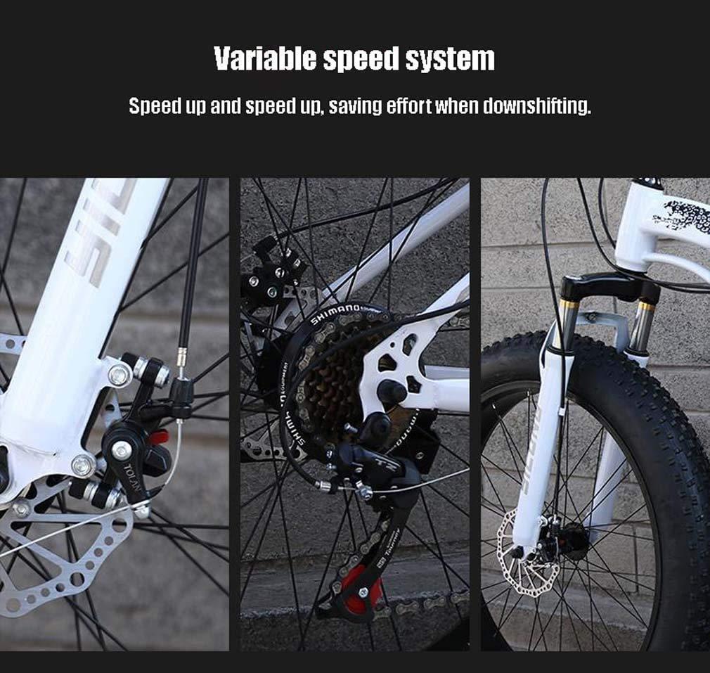 XHJZ Mens Fat Tire Bicicleta de montaña, 26 Pulgadas de Nieve para ...